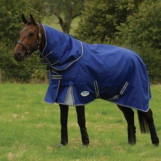 WeatherBeeta ComFiTec Premier Free II 100g Turnout Rug Dark Blue/Grey/White | Chelford Farm Supplies