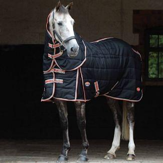 WeatherBeeta ComFiTec With Therapy-Tec Channel Quilt Medium Stable Rug 220g Black/Silver/Red | Chelford Farm Supplies
