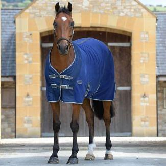 WeatherBeeta Fleece Cooler Rug Dark Blue/Grey/White | Chelford Farm Supplies