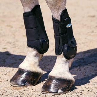 WeatherBeeta Flexi Shell Cross Country Front Boots Black   Chelford Farm Supplies