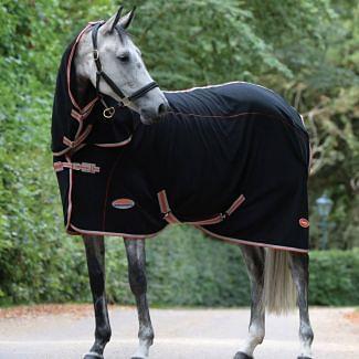 WeatherBeeta Therapy-Tec Fleece Combo Stable Rug Black/Red/Silver | Chelford Farm Supplies