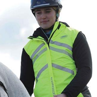 WeatherBeeta Waterproof Lightweight Reflective HI VIS Vest   Chelford Farm Supplies