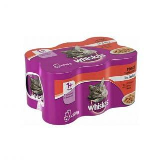Whiskas 1+ Meat in Jelly Variety Cat Food 24 Pack   Chelford Farm Supplies